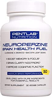 Best Natural Brain Function Booster - Memory, Focus & Clarity Formula - Nootropic scientifically formulated Bacopa Monneri...