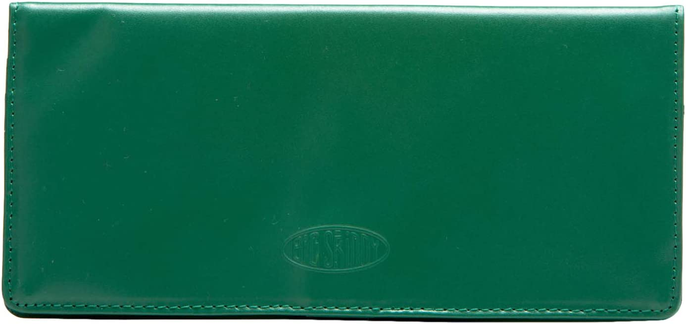 Big Skinny Women's Executive Leather Bi-Fold Checkbook Slim Wallet, Holds Up to 40 Cards