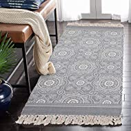 """100% cotton braided rug runner + screen printing (Environmental ink,can pass AZO test,color fastness to 3 level)+ two ends with tassels. Size: 24""""×51""""/60×130cm, great water absorption, no fade, good breathability. Machine wash separately in cold wate..."""