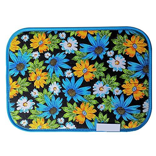Funda para tabla de planchar con revestimiento de silicona, manta de planchado con patrón floral, alfombrilla de planchado para mesa, paño de hierro resistente al calor, Diseño de flores