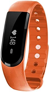 Padgene Fitness Activity Tracker, ID101 Heart Rate Monitor, Bluetooth 4.0 Smart Bracelte with Pedometer Sleep Monitor,Message Remind,Anti-Lost for Android 4.0 or Above and iOS 7.0 or Above Smartphone