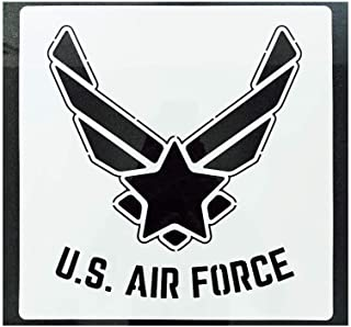 Large US Military Flag Stencil for Painting on Wood, Fabric, Walls, Airbrush + More | Reusable Mylar Template (US Military Logo) (USAF Military Logo)