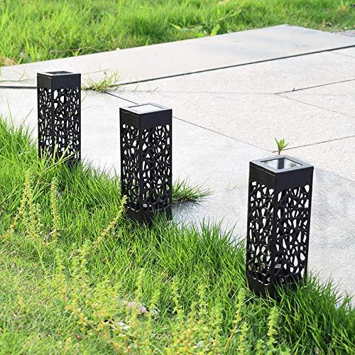 Nologo Luz solar al aire libre luz solar LED impermeable césped controlado por inducción lámpara decorativa solar para jardín al aire libre ZHQHYQHHX