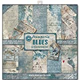 Stamperia Double-Sided Paper Pad 12'X12' 10/Pkg-Blues, 10 Designs/1 Each