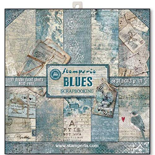 STAMPERIA Kit de Scrapbooking Blues 30x30cm, Azul, talla única