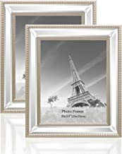 meetart 8x10 2 Pack Mirror Photo Frames Sets for Wall Pictures Decor or Table Stand