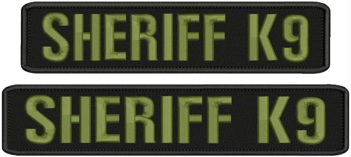 Hook on Back unisex Embroidered Sales results No. 1 Patch k9 Sheriff Patches Embroidery of