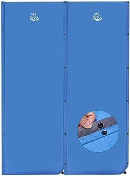 2-Pack Deerfamy 25 Inch Wider Self Inflating Sleeping Pad