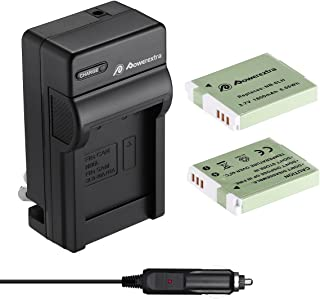 Powerextra Upgraded 2 Pack Replacement Canon NB-6LH Battery as NB-6L Battery and Charger Kit Compatible with Canon Powershot S120, SX510 HS