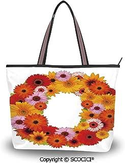 SCOCICI Tote Bag Oversized Shoulder Handbag Purse Dragonfly,Sketchy Like Bugs w