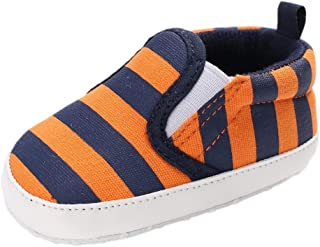 Amiley Christmas Baby Girl Boys Stripe Canvas Shoes Sneaker Anti-Slip Shoes