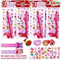 JOYIN 56 Pack Valentines Day Stationery for Kids Valentine School Classroom Exchange Gift Party Favor Supplies