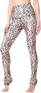 Emily Hsu Designs Leopard Legging Womens Active Workout High Waisted Yoga Leggings