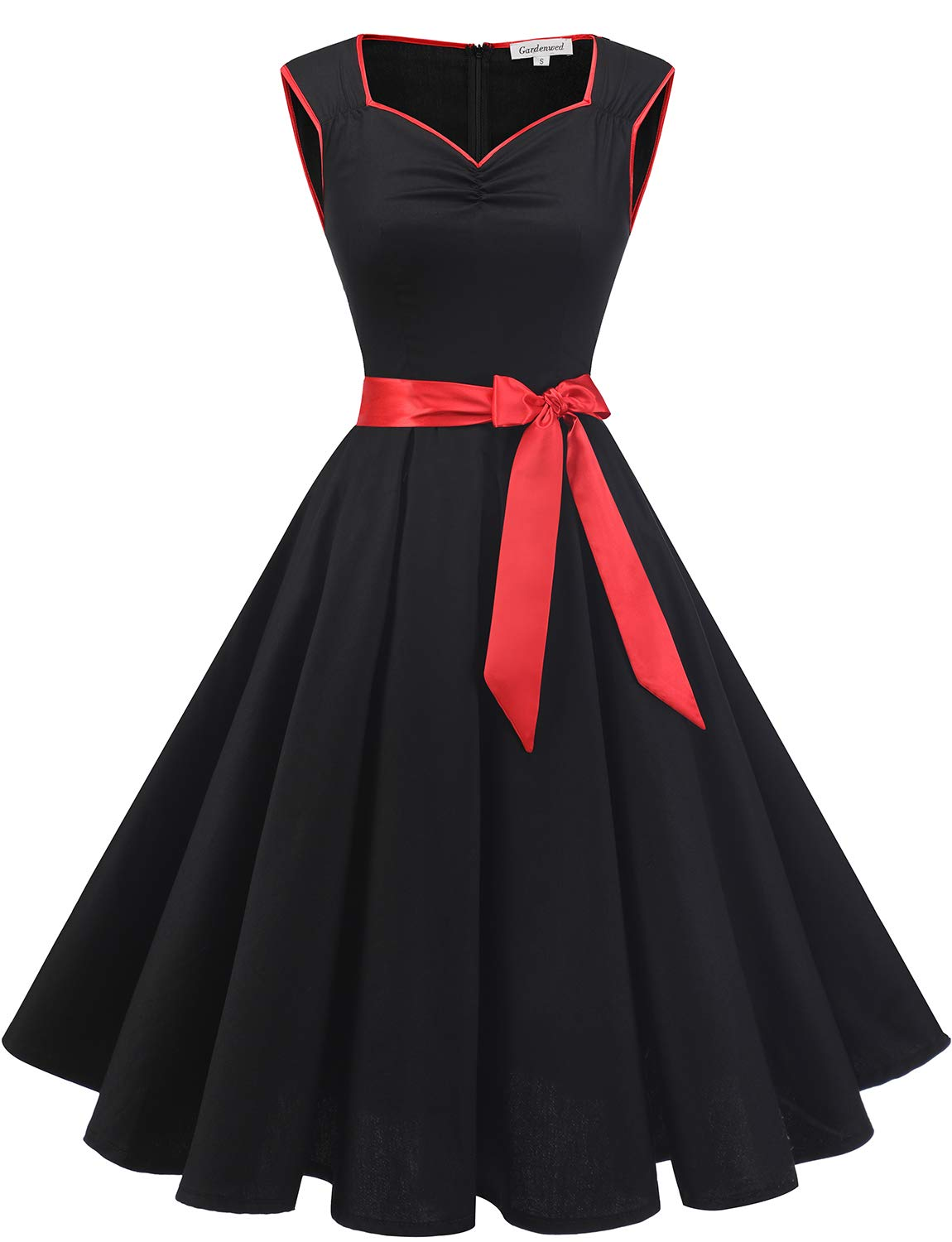 Available at Amazon: Gardenwed 1950s Vintage Dresses Cocktail Dresses for Women Retro Rockabilly Party Swing Dress