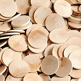 """Woodpeckers 1.5"""" Round Discs, Bag of 100 Unfinished Wood Rounds, Ready to Be Painted and Decorated, 1-1/2 Inch Unpainted Wood Discs"""