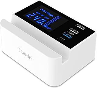 $24 » USB Charging Station, 4-Port Multiple USB Charging Station for Multiple Devices, Multi USB Charger with 20W PD Fast Charge...