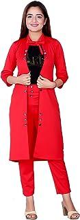 Elendra jeans Girls Multi Color Cotton Lycra Stretchable 3 Piece Shrug Dress
