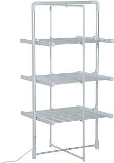Séchoir à linge étendoir à linge électrique chauffant pliable 3 niveaux 300 W 50-55° C aluminium