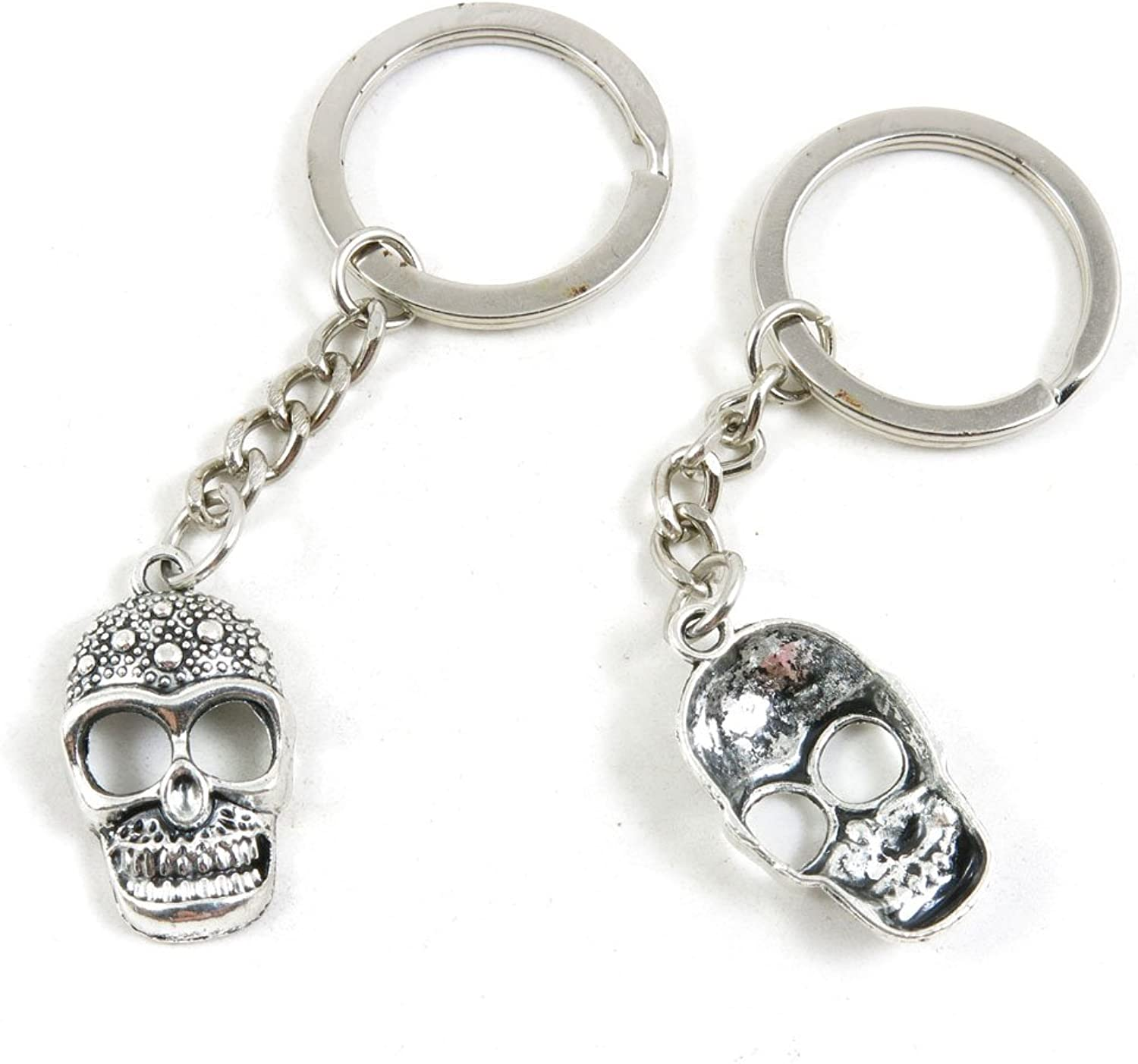 190 Pieces Fashion Jewelry Keyring Keychain Door Car Key Tag Ring Chain Supplier Supply Wholesale Bulk Lots H3YF6 Skull