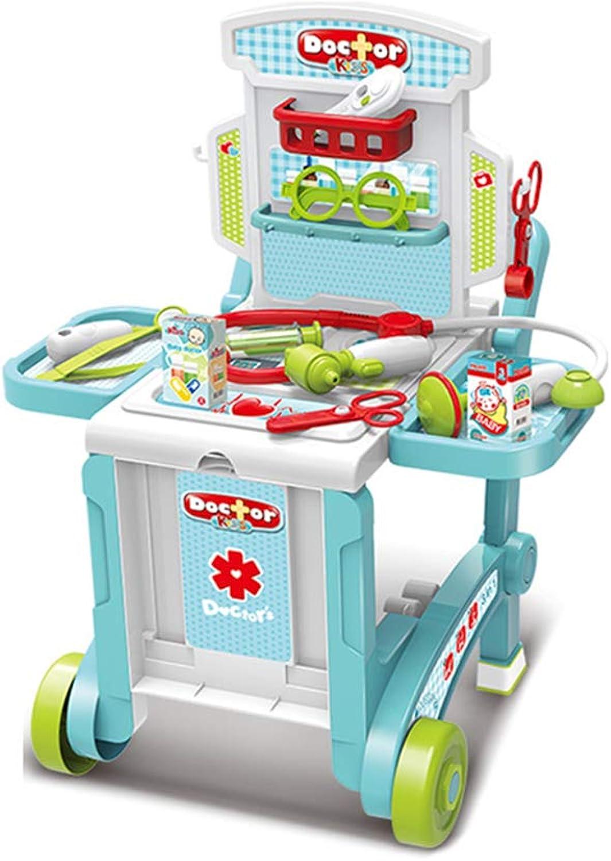 Spielzeuge Xiaomei Kinder Küche Kochen 3-6 Jahre Alten Jungen und Mdchen Simulation Trolley Set (Farbe   A)