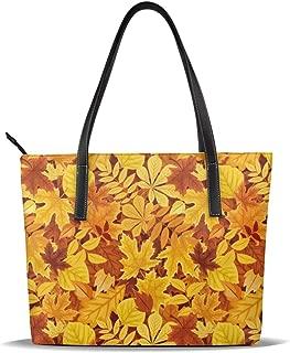 not Tree Maple Leaves Leather Tote Bag for Women Large Shoulder Purse Handbag
