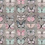 Verhees Canvas Beautiful Butterflies, grau, Digitaldruck 50