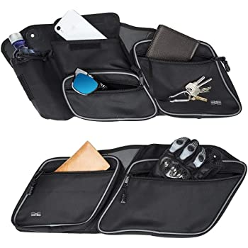 HTTMT LA01 Saddlebag Lid Organizer Set Compatible with Harley Davidson Touring Models 93-13