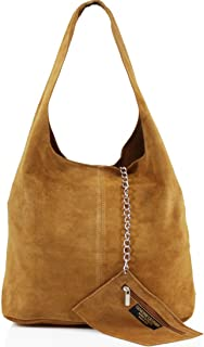 Ladies Womens Vera Pelle Real Leather Hobo Shoulder Bag