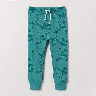 HOSD otoño nuevos Pantalones para niños Pantalones Estampados de Dibujos Animados para niños Pantalones de algodón de Punt...
