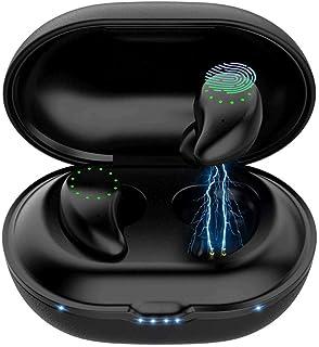 T-ara Vattentäta Bluetooth-hörlurar 100 h speltid, djup bas, 66 fot Bluetooth-räckvidd, äkta trådlösa hörlurar hörlurar hö...