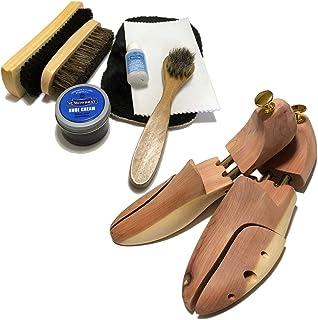 [ワイアールエムエス] シューケア用品 M.モゥブレィセット 靴磨き シューツリー付 フルセット 靴のケアに最適のアイテム満載 靴のお手入れに 靴クリーム ブラック