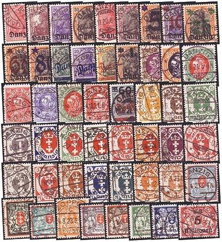 Goldhahn Danzig 50 gestempelte Werte alle geprüft und signiert Briefmarken für Sammler