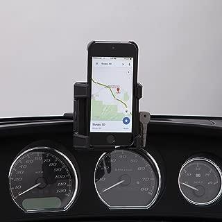 Ciro 50317 Black Fairing Mount Smartphone/GPS Holder Without Charger for 2014-2016 Harley-Davidson FLHT/FLHX Touring Models