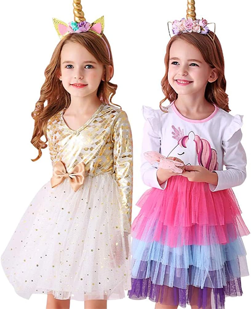 VIKITA Casual Girls Dresses 2pcs LH4590+LH4898 6T