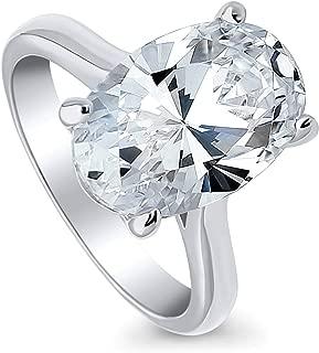 oval simulated diamond ring