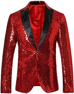 Men's Sequins Blazer Slim Fit Sport Coat Jacket Party Wedding Sports Coat