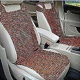 Ablily Lot de 2 coussins de siège en bois pour voiture Respirant Perles en bois Coussin de siège de voiture pour été Accessoires durables