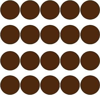 20 Polka Dot Wall Decals 3 Inch Peel & Stick Circles Dots Colors Kids Room VWAQ-555 (Brown)
