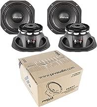 4X 6.5 PRV Audio 6MR500-NDY-4 Neodymium Mid Range 4 Ohm 2000W Car Audio Speaker