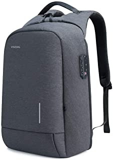 VGOAL Laptop Backpack 13.3 Inch Lightweight Traveling Bag with 2.0 USB Charging Port TSA Lock Anti Theft Business Laptop R...