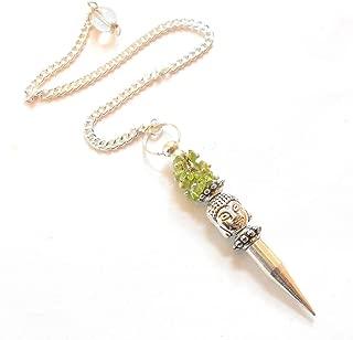 earthegy Peridot Buddha Chip Gemstone Pendulum