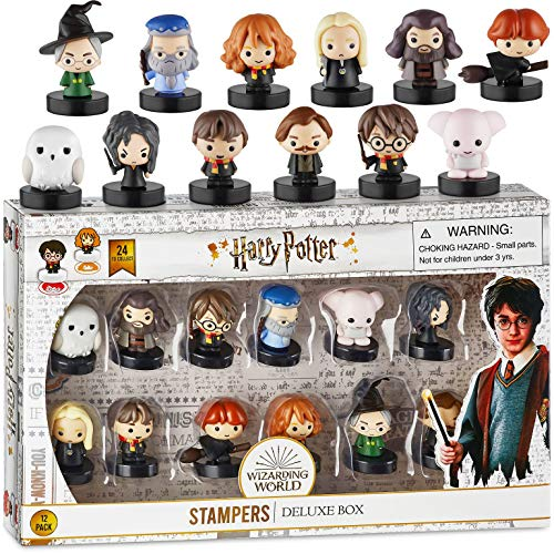 Self-Inking Harry Potter Stampers, Set of 12 – Harry Potter Gifts, Collectables, Party Decor, Cake Toppers – Lucius Malfoy, Hermione Granger, Neville Longbottom and More by PMI, 2.5 in. Tall