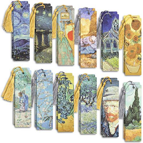 The Gifted Stationery segnalibri con nappa (24 pezzi, design Van Gogh)