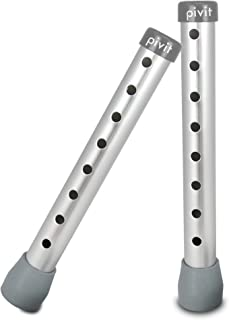 Pivit Adjustable Height Shower Chair & Walker Extension Legs   Pack of 2   Sturdy Rust-Proof Anodized Aluminum Fits Any 1