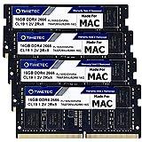 Timetec Hynix IC 64GB KIT(4x16GB) Compatible for Apple DDR4 2666MHz for Mid 2020 iMac (20,1/20,2) / Mid 2019 iMac (19,1) 27-inch w/Retina 5K Display PC4-21300 / PC4-21333 CL19 SODIMM Memory MAC RAM