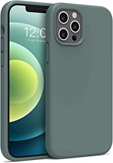 """**10% Off** TR4U – Liquid Silicone Case for iPhone 12-12 PRO (6.1"""") and 12 PRO MAX (6.7"""") (Black - Blue - Pink - Green)"""