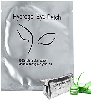 110 Pairs Eyelash Extension Gel Patches Kit, Lash Extension Lint Free Under Hydrogel Eye Mask Pads Beauty Tool with Transp...