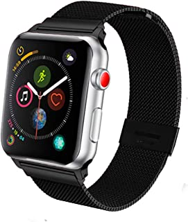 SPINYE Band Compatible for iWatch 38mm 42mm 40mm 44mm, Stainless Steel Metal Mesh Strap for Apple Watch Series 5/4 / 3/2 W...