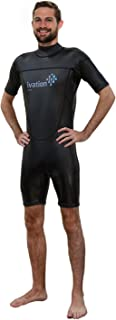 Ivation 3mm Wind-Resistant Short Wetsuit for Men - Crafted of Premium Flexible Neoprene with Flatlock Construction
