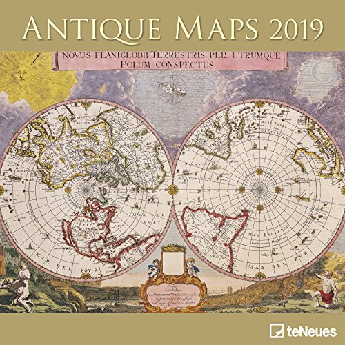 2019 Antique Maps Calender - Art Calender - 30 x 30 cm (English, German, French, Italian and Spanish Edition)